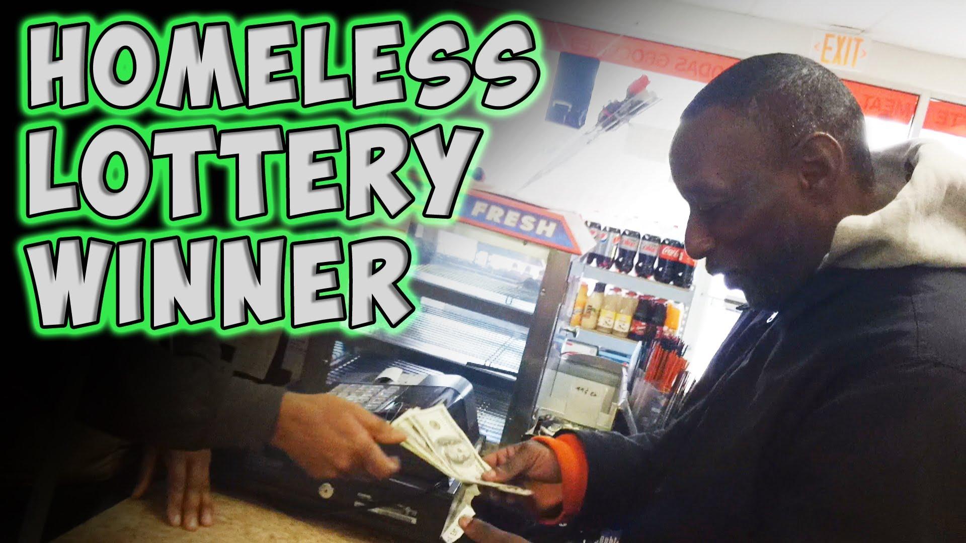Muž bez domova dostal výherní tiket