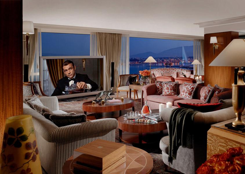 Luxusní královský apartmán v ženevském hotelu President Wilson (zdroj: hotel President Wilson)