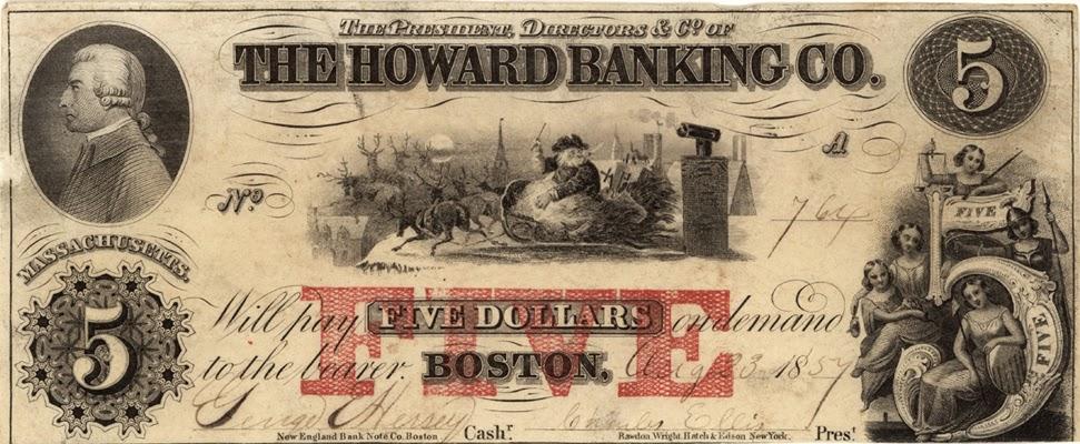 Santa Claus na amerických bankovkách