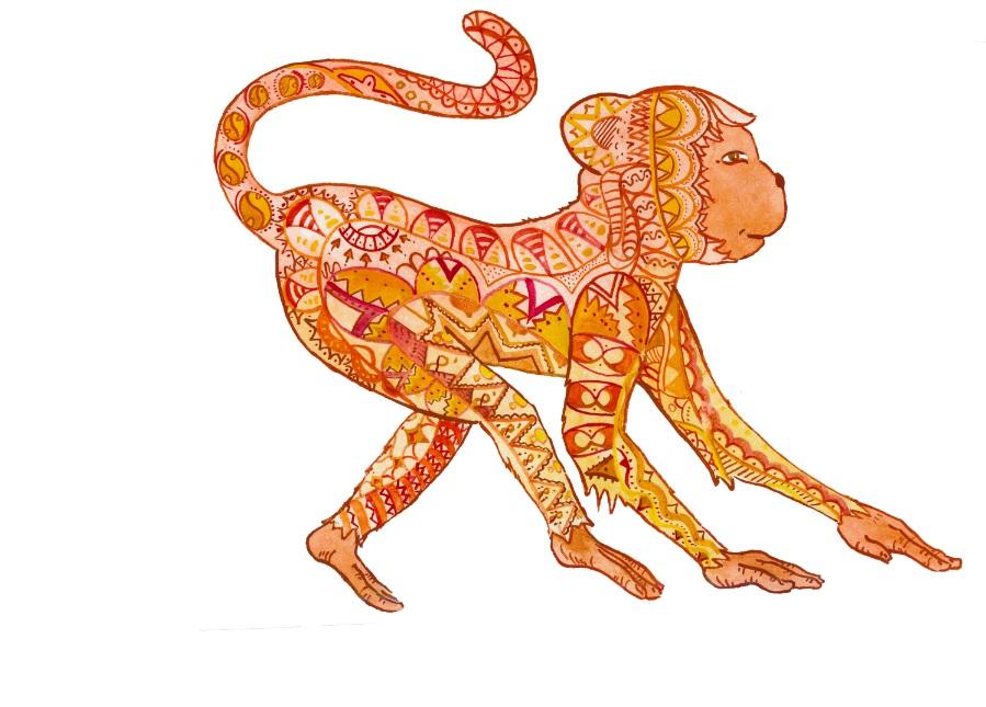 Rok rudé ohnivé Opice