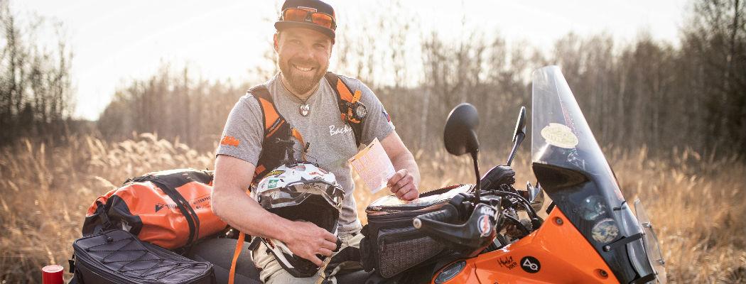SAZKA reportér: Za výhru ve Sportce vyrazí motorkář Tomáš na cestu kolem světa
