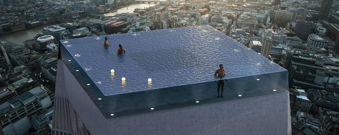 Pod vodou a nad zemí zároveň. Londýn staví nejluxusnější bazén světa