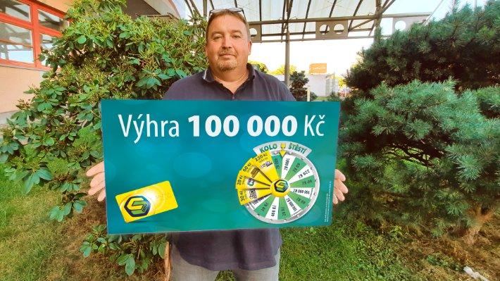 Klikař ze severních Čech vyhrál na Kole štěstí 100 000 Kč. Peníze dá dceři