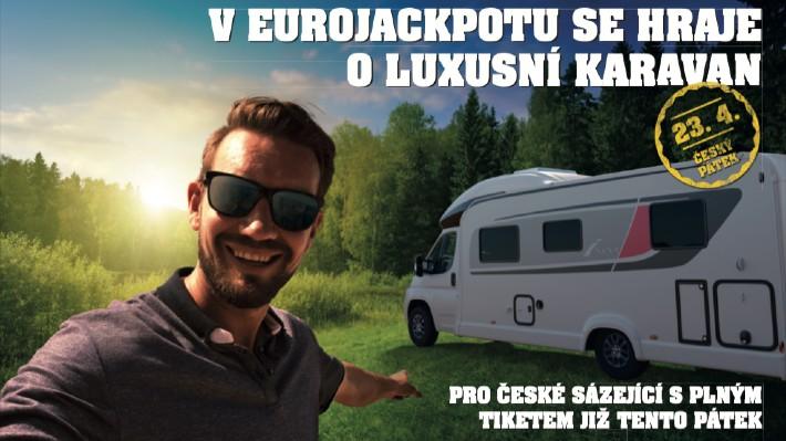 Máte na dnešek tiket Eurojackpotu? Skvělé! Jste ve hře o luxusní karavan za miliony