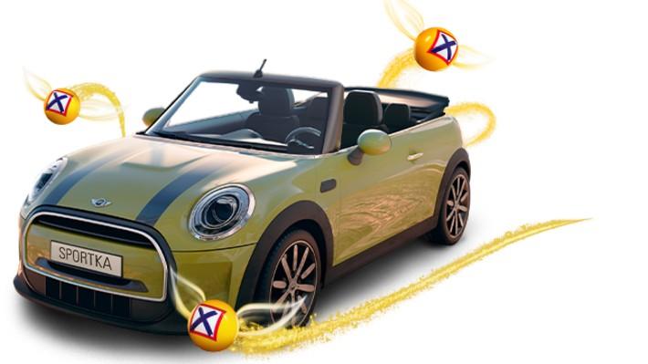 Máte na večer vsazený plný tiket Sportky? Skvělé! Jste ve hře o Mini Cooper Cabrio!