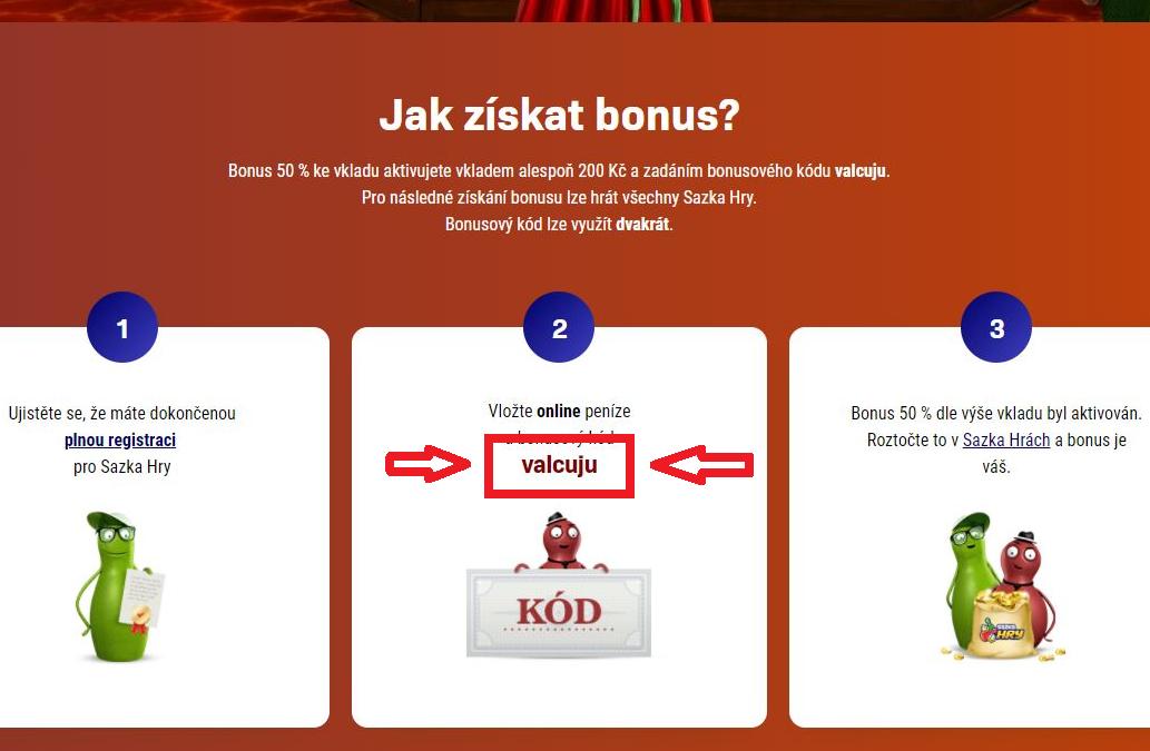 Kód najdete uvedený v nabídkovém e-mailu, případně přímo na webu Sazka v sekci Bonusy a soutěže.
