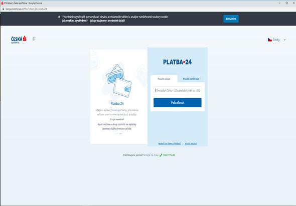 Pokud vaše banka podporuje online vklady na herní účet, budete vyzváni k přihlášení do vašeho internetového bankovnictví. V něm dokončete platbu, která pro vás již bude předvyplněná.