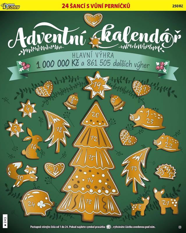 Adventní kalendář - náhled losu