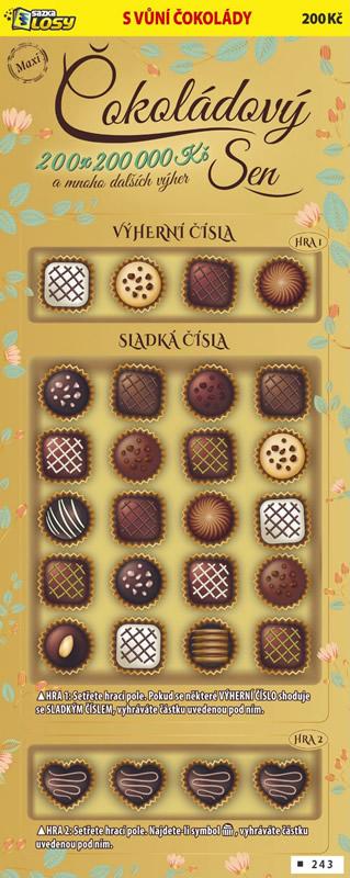 Maxi Čokoládový sen - náhled losu
