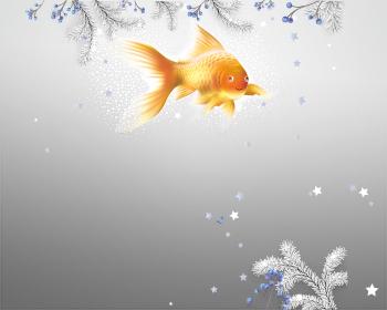 Vánoční Zlatá rybka - obrázek