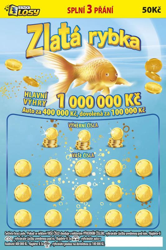 Zlatá rybka - náhled losu
