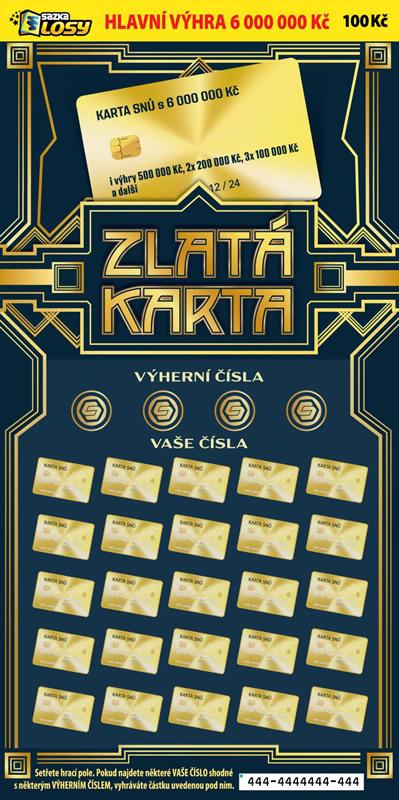 Zlatá karta - náhled losu