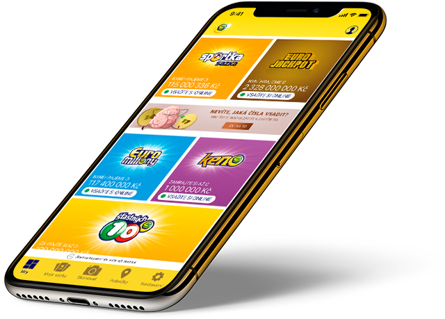 Telefon s aplikací Sazka