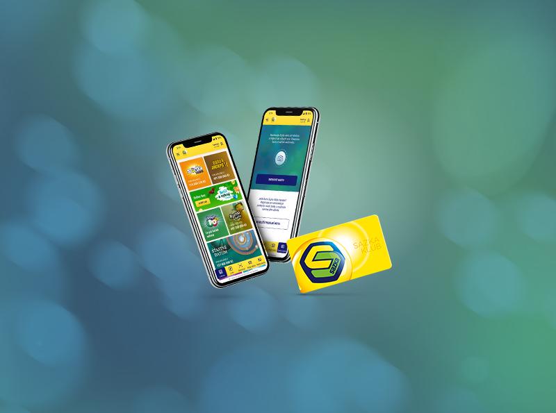 Sazka karta v mobilní aplikaci SAZKA